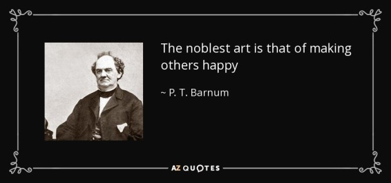 P.T. Burnum quote on happy